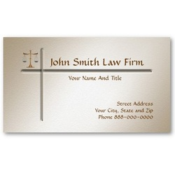 Legal Attorney Lawyer Business CArds - Custom Made Business Cards