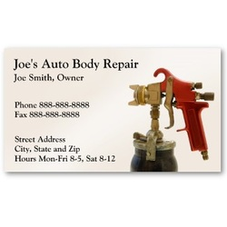 Professional Business Cards For Auto Body Repair Shop And