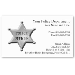 Law enforcement officer police sheriff and detective custom made a nice selection of professional business cards for police sheriff and anyone in law enforcement colourmoves
